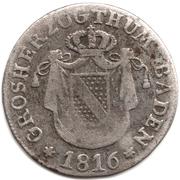 6 Kreuzer - Karl II Ludwig Friedrich – obverse