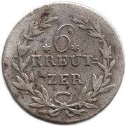 6 Kreuzer - Karl II Ludwig Friedrich – reverse