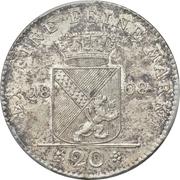20 Kreuzer - Karl I Friedrich – reverse
