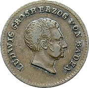 ½ Kreuzer - Ludwig I – obverse
