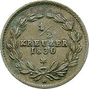 ½ Kreuzer - Ludwig I – reverse