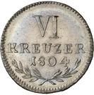 6 Kreuzer Landmünze - Karl Ludwig Friedrich – reverse