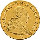 1 Ducat - Karl Friedrich (Birth of Karl Ludwig Friedrich) – obverse