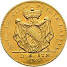 1 Ducat - Karl Friedrich (Birth of Karl Ludwig Friedrich) – reverse