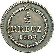 ¼ Kreuzer - Karl Friedrich – reverse