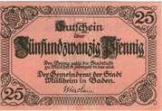 25 Pfennig  (Müllheim in Baden) – obverse