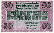 50 Pfennig (Freiburg im Breisgau) – obverse