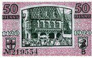 50 Pfennig (Freiburg im Breisgau) – reverse