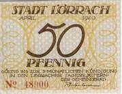 50 Pfennig (Lörrach) – obverse