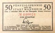 50 Pfennig (Mannheim) – obverse