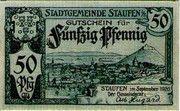 50 Pfennig (Staufen im Breisgau) – obverse