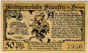 50 Pfennig (Staufen im Breisgau) – reverse