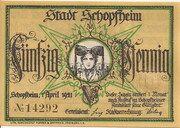 50 Pfennig (Schopfheim) – obverse