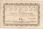 1,000,000 Mark (Mannheim) – obverse