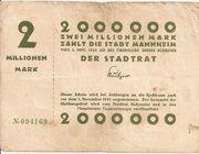 2,000,000 Mark (Mannheim) – obverse