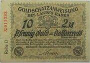 10 Pfennig Gold (Goldschatzanweisung des Landes Baden) – obverse