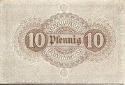 10 Pfennig (Neckargemünd) – reverse