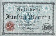 50 Pfennig (Neckargemünd) – obverse