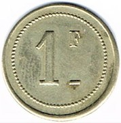 1 Franc - Coopérative de Bages – reverse