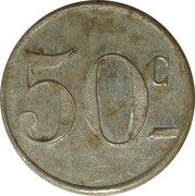 50 Centimes - Coopérative de Bages – reverse