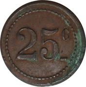 25 Centimes - Coopérative de Bages – reverse