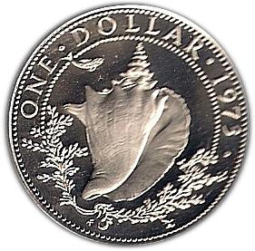 Inv#233 Bahamas 1972 1 Dollar Classic