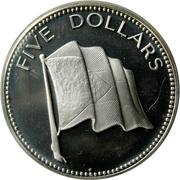 5 Dollars - Elizabeth II (Silver Proof Issue) – reverse