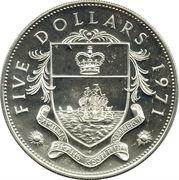 5 Dollars - Elizabeth II – reverse