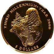 5 Dollars (Third Millennium) -  reverse