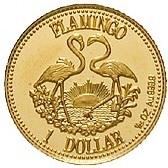 1 Dollar (Bullion-Flamingo) – reverse