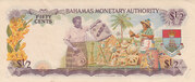 ½ Dollar (Bahamas Monetary Authority) – reverse
