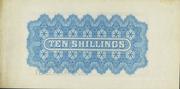 10 Shillings - Victoria (Blue) – reverse