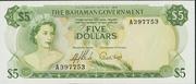 5 Dollars - Elizabeth II (Green) – obverse