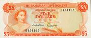 5 Dollars - Elizabeth II (Orange) – obverse
