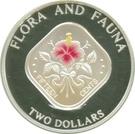 2 Dollars - Elizabeth II (Hibicus flower) – reverse