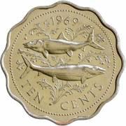 10 Cents - Elizabeth II (2nd portrait) -  reverse