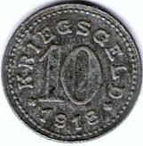 10 Pfennig - Balingen – reverse