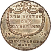1 Thaler - Franz Ludwig – reverse