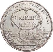 1 Thaler - Christoph Franz von Buseck (Konventionstaler) – reverse