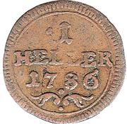 1 Heller - Adam Friedrich – reverse