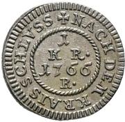 1 Kreuzer -  Adam Friedrich von Seinsheim – reverse