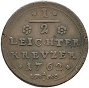 ½ Leichter Kreuzer - Adam Friedrich – reverse