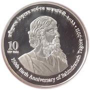 10 Taka (Rabindranath Tagore) – obverse