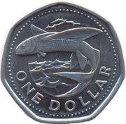 1 Dollar - Elizabeth II (small type; magnetic) -  reverse