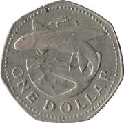 1 Dollar - (large type) -  reverse