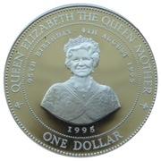 1 Dollar - Elizabeth II (Queen Mother's 95th Birthday) – reverse