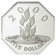 5 Dollars - Elizabeth II (Millennium) – reverse