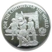 5 Dollars - Elizabeth II (UNICEF) – reverse