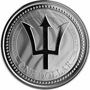 1 Dollar (Trident) – reverse