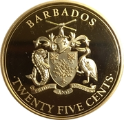 25 Cents (Pirates of Barbados - Blackbeard's Ship the Queen Anne's Revenge) – obverse